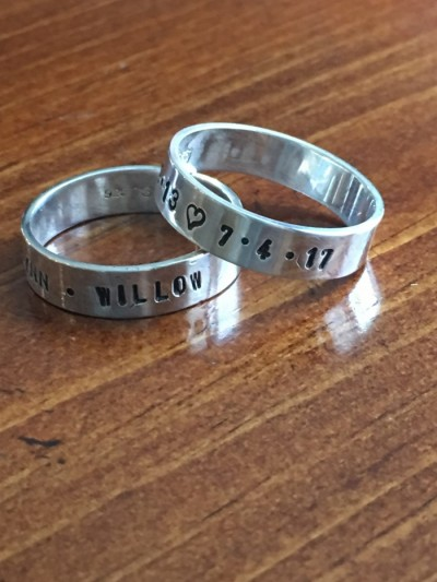 Mens personalized dad ring kids names