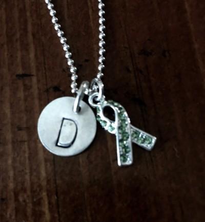 Custom Awareness Ribbon Necklace Kandsimpressions