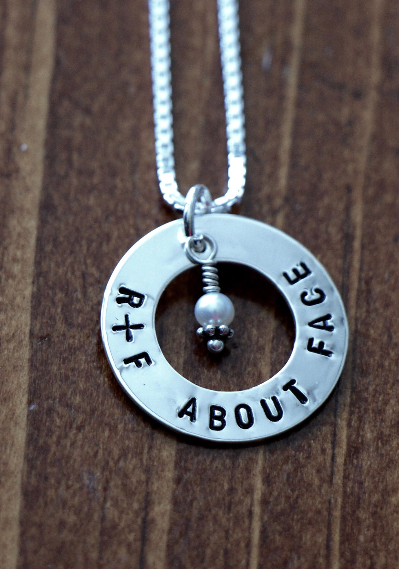 R + F Incentive Gift Necklace About Face
