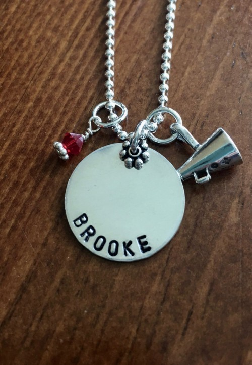 Personalized Cheerleader Name Necklace gift