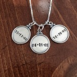 Childs Date Mothers Personalized Necklace