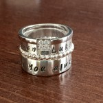 Mothers Stacking Ring Set- Personalized