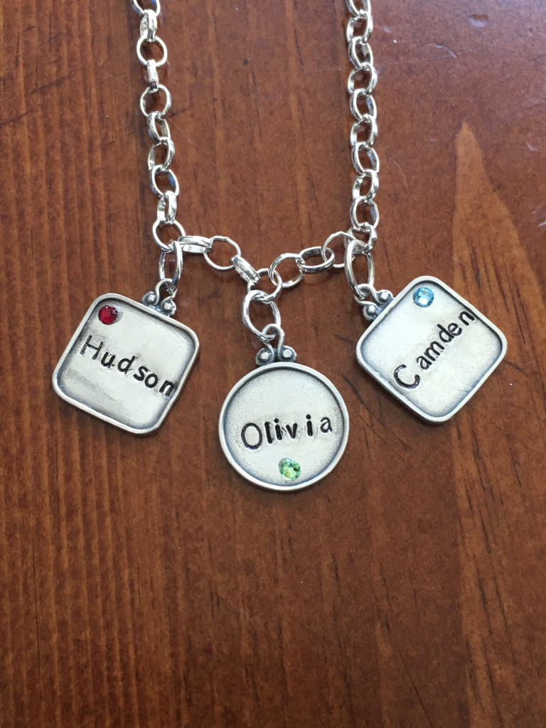 mothers birthstone name necklace