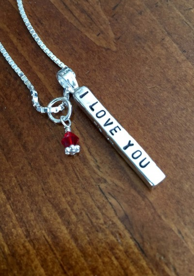 I love you couples necklace personalized name