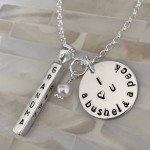 personalized grandma necklace bushel and a peck