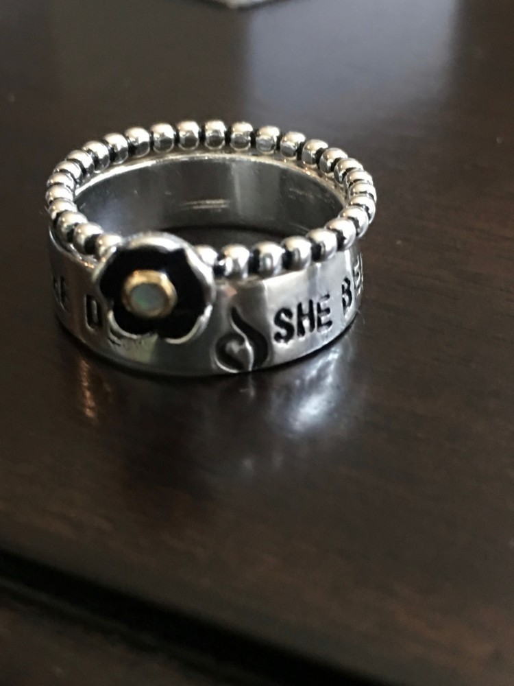 Custom Eating Disorder Recovery Ring Gift Kandsimpressions