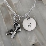 Ballet Dancer Gift Personalized Necklace- Initial