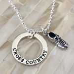 Cross Country runner necklace tennis