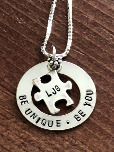 custom autism puzzle necklace mom necklace gift