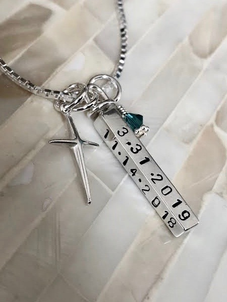 First communion gift sacrament date necklace