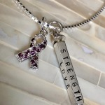 Alzheimer's Ribbon Personalized Necklace