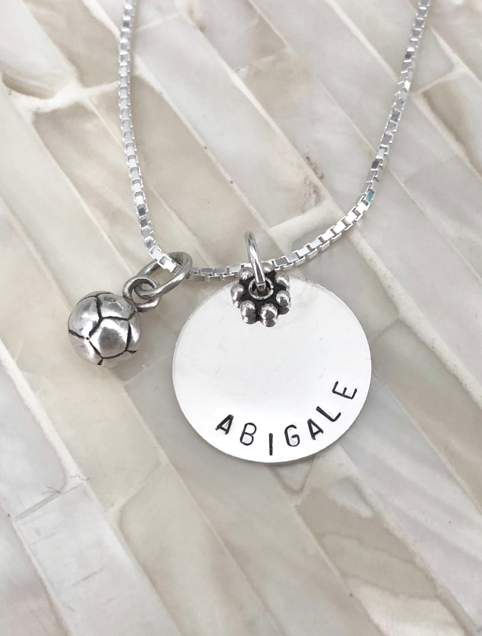 Soccer player necklace gift