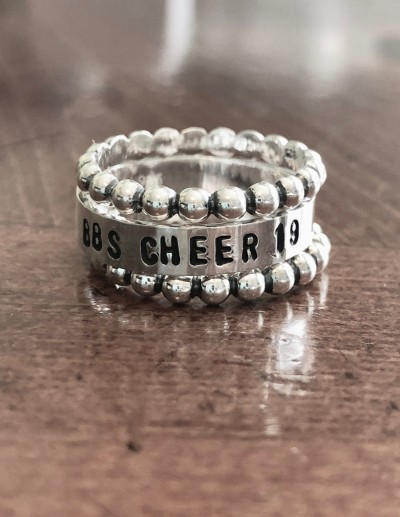 Cheer Personalized Team stacking ring set- sports gifts
