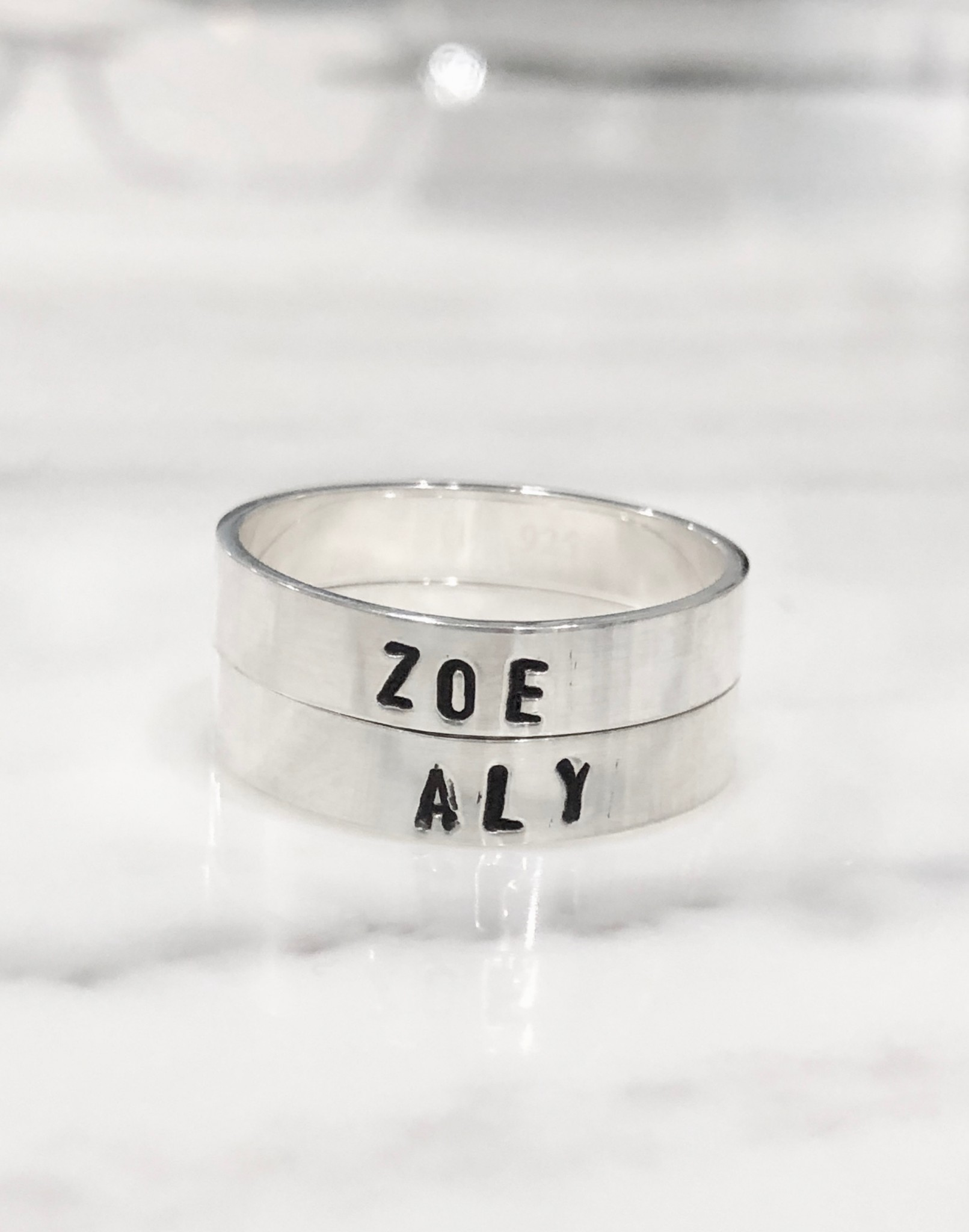 Name Stackable Personalized Rings- Mothers- Daughter- Graduation- Couples