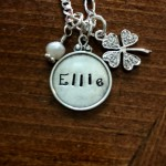 Irish Personalized Clover Necklace- Name Teen Necklace