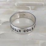 College Graduation Personalized Ring- Sterling Silver