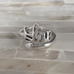 Love Valentines promise ring- Sterling Silver