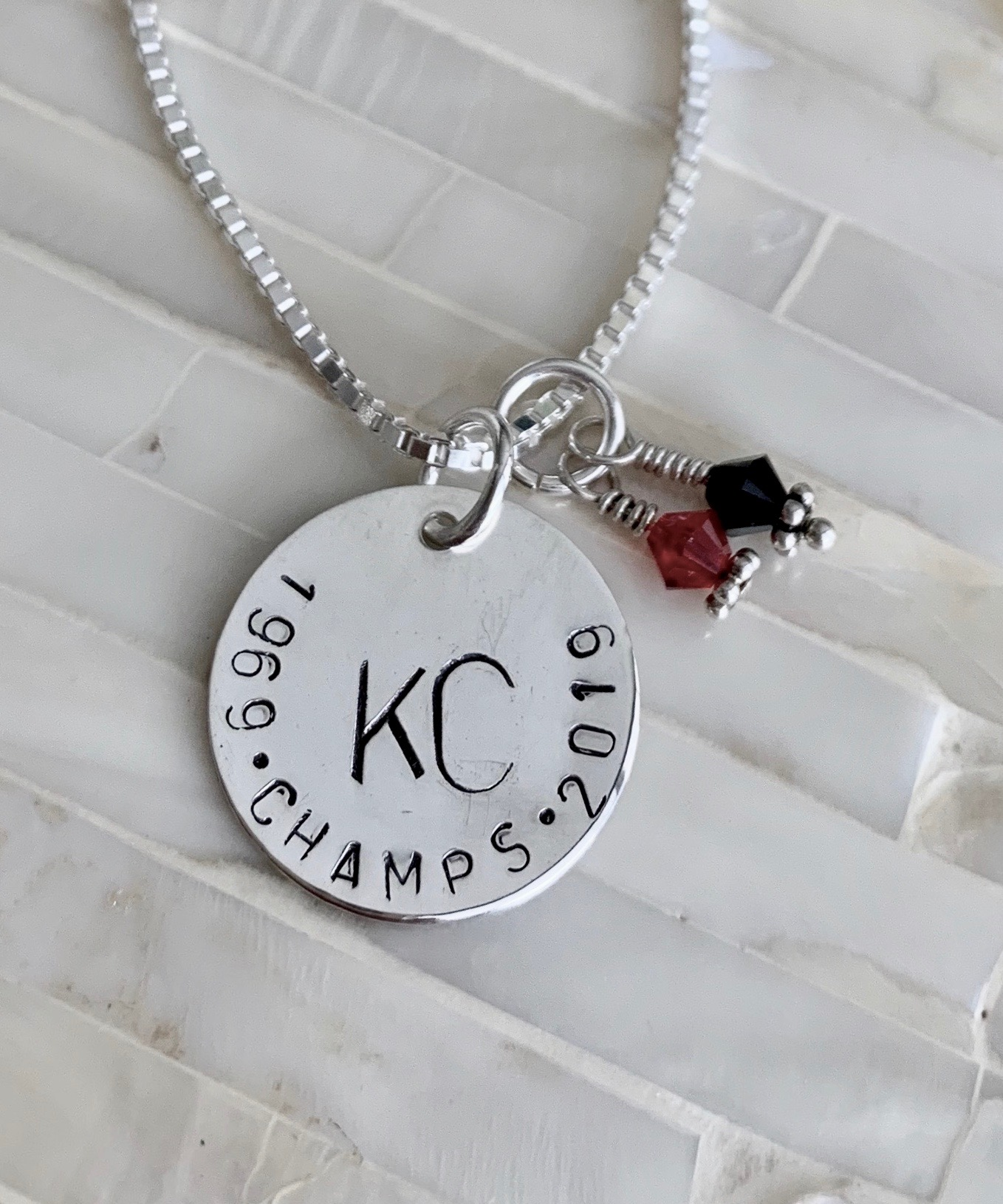 Personalized Chiefs Champs Necklace