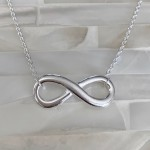 Infinity Necklace- Couples Love Jewelry- Sterling Silver