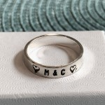 couples initial heart ring anniversary gift