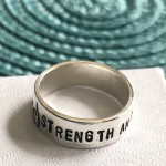 Strength ring- custom eating disorder recovery gift for him or her