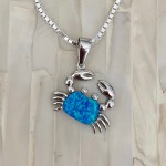 Crab necklace, beach jewelry gift for her