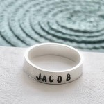dad ring, mom ring, child name ring