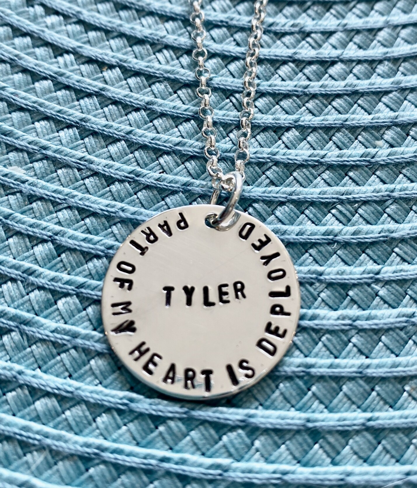 military wife necklace- deployment gift