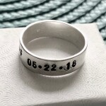 addiction recovery date ring, sobriety gift for him