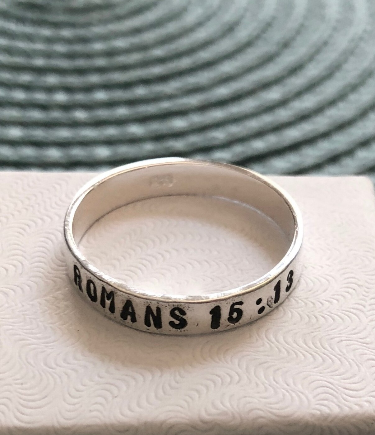custom bible verse, scripture ring, religious gift