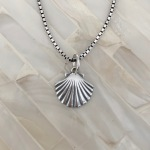 Shell Necklace- Sterling Silver- Beach Jewelry