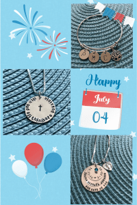 4th of july personalized jewerly sale