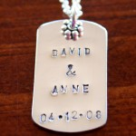 Wedding personalized Name Date necklace