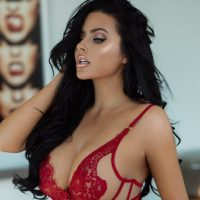 Abigail Ratchford Just Owned The Color Red