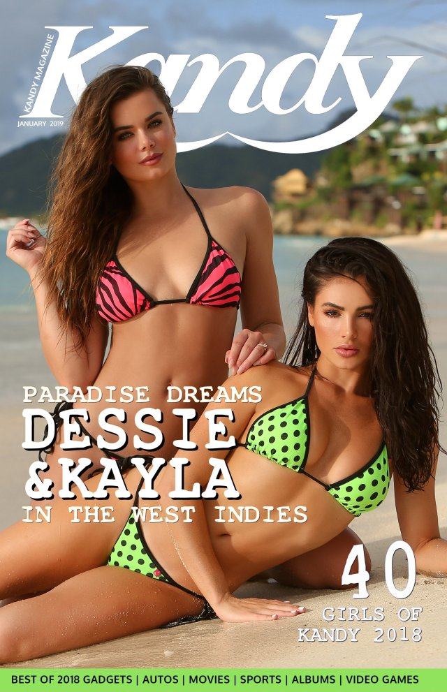 Dessie Mitcheson Kayla Fitz Special Collectors Edition Kandy Magazine Cover