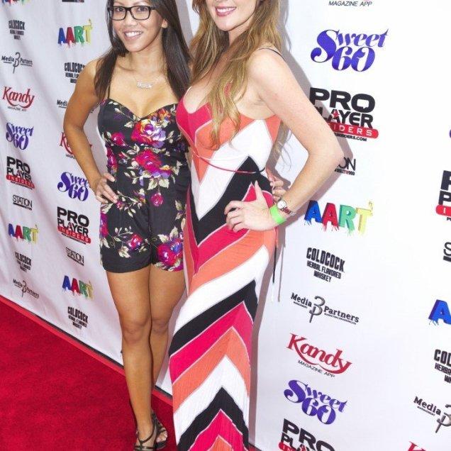 Playboy models Caya Hefner and Playmate friend