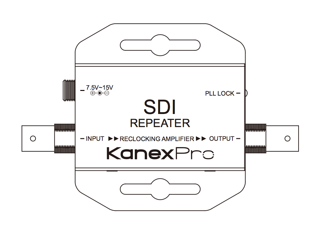 HD-SDI Repeater with Signal Equalization & Re-clocking