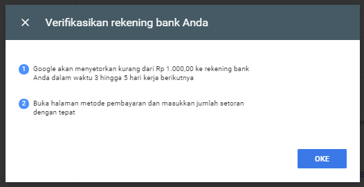 verifikasi rekening bank