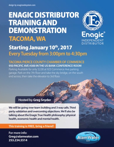 Tacoma wakangenevents enagic distributor training and demonstration tacoma junglespirit Choice Image