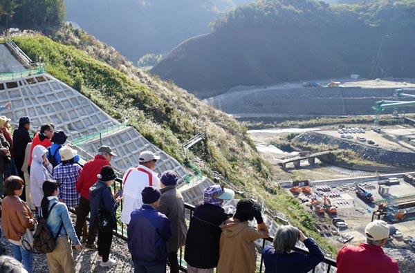 建設中の川上ダム