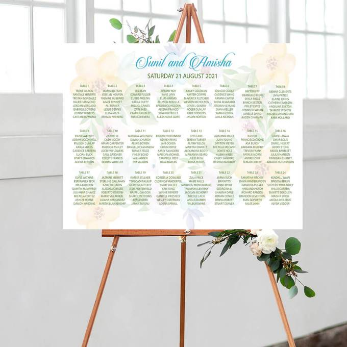 Floral Wedding Seating Chart – 3