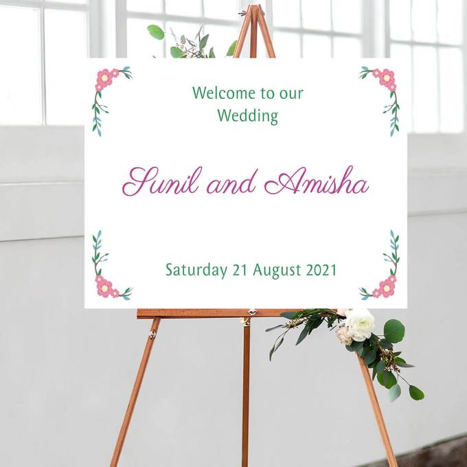 Floral Wedding Welcome Sign – 5