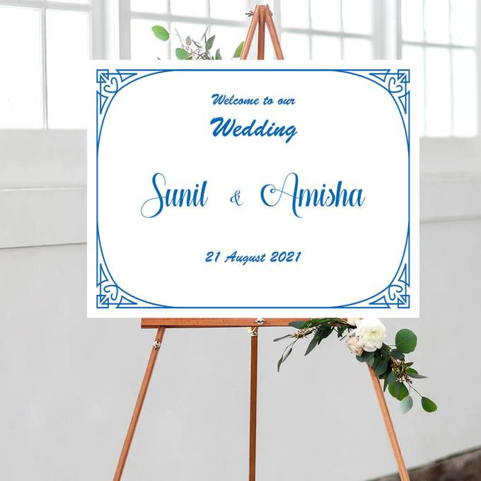 Ornament Theme Wedding Welcome Sign