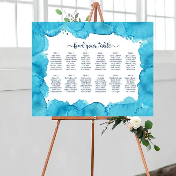 Wedding Seating Chart – Border – 3