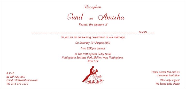 Wedding Reception Invitation Wordings CardFusion