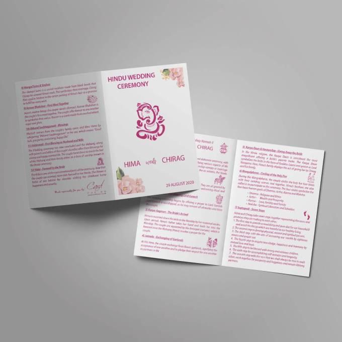 Hindu Wedding Order of Service Booklet – 1