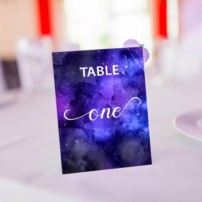 Wedding Table Numbers – Silver Foiled – 4