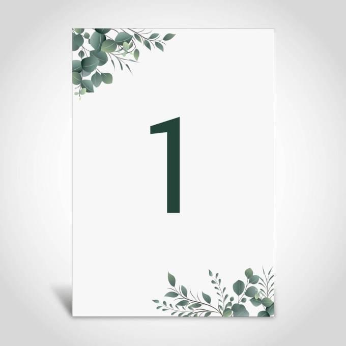 Eucalyptus Theme Wedding Table Number – 6