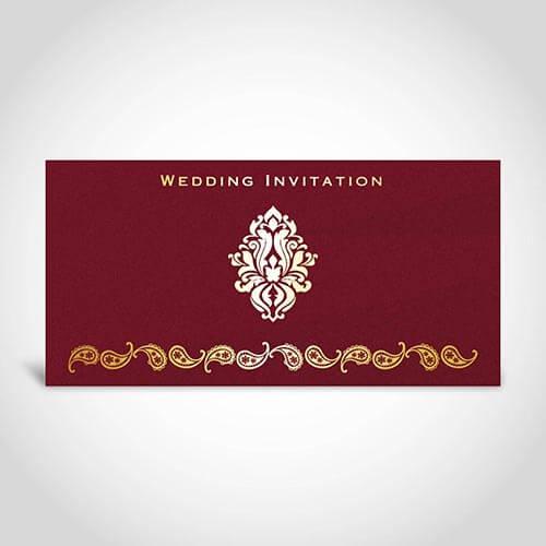 Simple Indian Wedding Invitation Card CardFusion