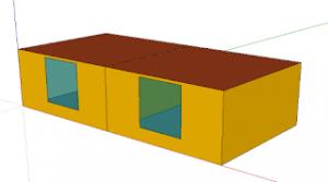ROOM1,ROOM2の2室モデル